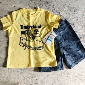Timberland Toddler Boy Shirt and Short Set